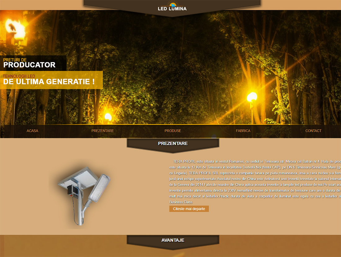 web design led-lumina.ro